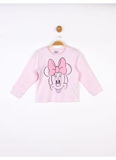 Minnie Mouse   Bebek Uzun Kol Tişört Pembe